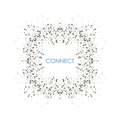 Modern vector template for business, science, medicine, technology, network and your idea