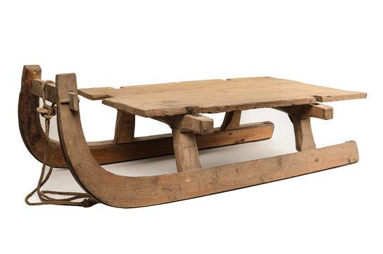 alter Holzschlitten