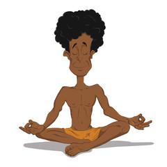 Yogi in meditation.