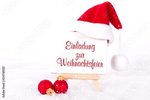 Einladung Zur Weihnachtsfeier.Einladung Zur Weihnachtsfeier Stockfotos Und Lizenzfreie