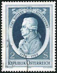 AUSTRIA - 1974: shows Carl Ditters von Dittersdorf (1739-1799),