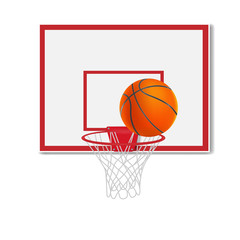 basketball backboard, vector illustration