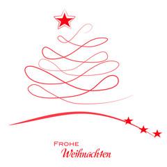 Weihnachtsbaum - Frohe Weihnachten