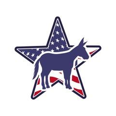 democrat political party animal vector illustration design