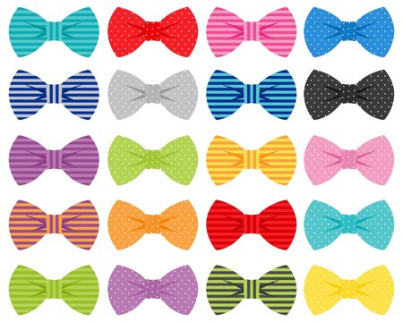 Bow Ties Vector Illustrations