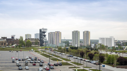 The Silesian Museum and high residential building, Katowice, Pol
