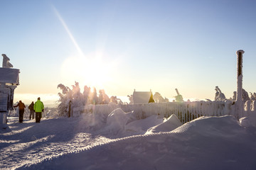Winterlandschaft Sonnenuntergang