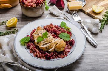 Chicken steak with buckwheat porridge