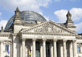 the German Parliament, in Berlin Mitte district, Germany