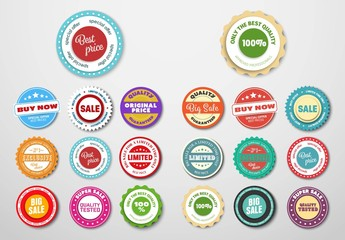 20 Sticker and Label Layout Pack