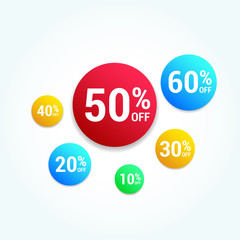 % Off Offer Round Labels