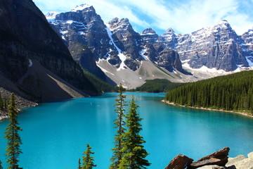 Papiers peints Piscine Lake,lac,Louise,Canada,rocheuse