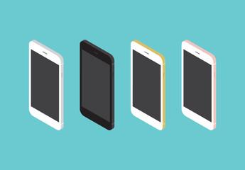 Smartphone-Illustrationen