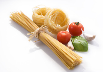 dry pasta with different shapes