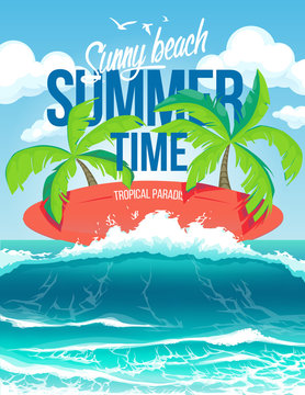 Vector poster summer time