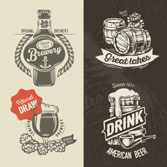 Hand draw brewery labels