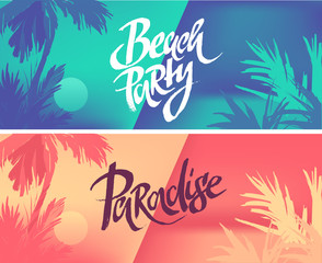 Tropic vacation background design. Beach party. Paradise.