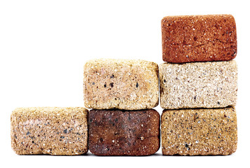 The bricks. Isolated on white background.
