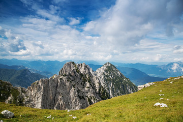 Amazing view on Alps. Mangart, Slovenia.