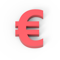Light matte red euro sign