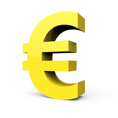 light yellow euro sign