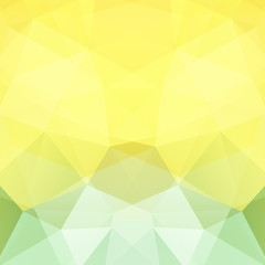 Abstract background consisting of yellow, green triangles. Geometric design for business presentations or web template banner flyer. Vector illustration