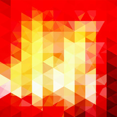 Background of geometric shapes. Abstract triangle geometrical background. Mosaic pattern. Vector EPS 10. Vector illustration. Red, yellow colors