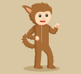 man in werewolf costume