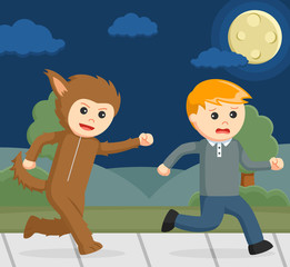 chasing other man vector illustration design