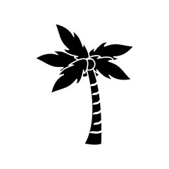 Palm tree icon. Nature plant and summer season theme. Isolated design. Vector illustration