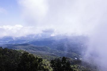 View chiangmai city form mon long mountain