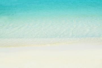 Blu sea and white sand beach background
