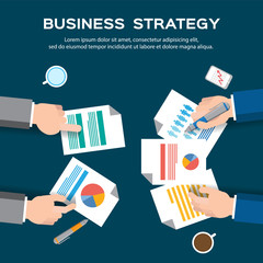Business plan / Business strategy - vector illustraton