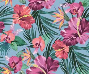 hibiscus vector pattern