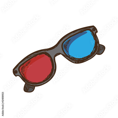 """3d glasses icon image vector illustration design "" Stock ..."