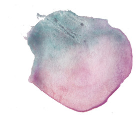 Abstract Purple Hand Drawn Watercolor Brush Stroke Circle