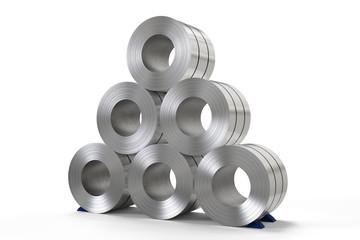roll of steel sheet in factory