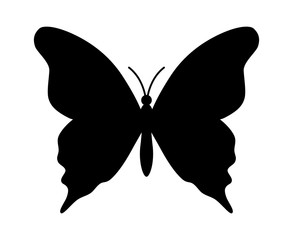 Butterfly winged insect flat icon for apps and websites