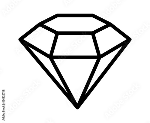 Line Drawing Jewel : Quot diamond gemstone jewel or gem line art icon for apps and