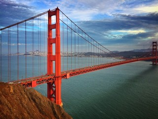 Fotobehang San Francisco sunset over Golden Gate Bridge in San Francisco California