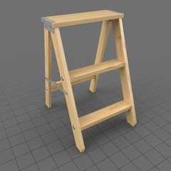 Wooden Step Ladder 2