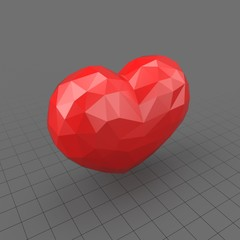 Valentine's Heart Faceted
