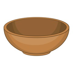 Big bowl icon. Cartoon illustration of big bowl vector icon for web