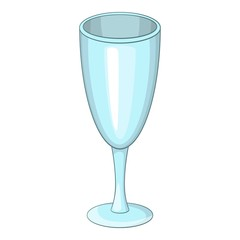 Wine glass icon. Cartoon illustration of wine glass vector icon for web