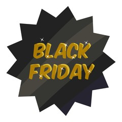 Tag black friday icon. Cartoon illustration of tag black friday vector icon for web