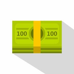 Bundle of money icon. Flat illustration of bundle of money vector icon for web