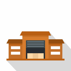 Warehouse icon. Flat illustration of warehouse vector icon for web