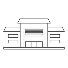 Warehouse icon. Outline illustration of warehouse vector icon for web