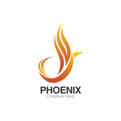 Bird Creative Design. Phoenix Logo Design Template