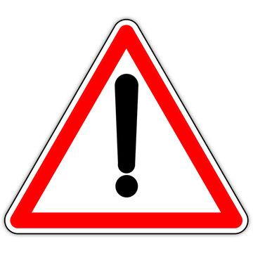 Panneau routier en France : attention au danger